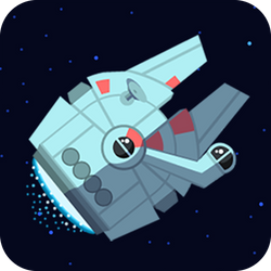 Simple and fun space game. Fly in circles and avoid crashing into the enemy ships. Complete the missions and fly through the galaxy. Survive as long as you can. Speed up or slow down, just don't crash and have fun. Can you unlock and fly with all the spaceships available? Get ready, pilot!