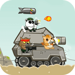 Metal Animals to the rescue! Control a team of cute and furry animals with weapons, and defend the tank from the enemy invasion. Stop the evil animals from destroying your tank!
