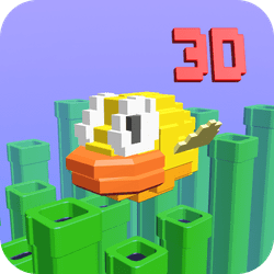Flappy's in 3D! Guide Flappy Bird 3D through as many pipes as you can. See the famous bird with a whole extra dimension.   How to Play:  Click/Tap to flap your bird upwards. Time your taps to make it through the pipes!