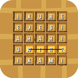Waffle is an HTML5 word game. The goal of the game is to compose as many words as possible in only two minutes!