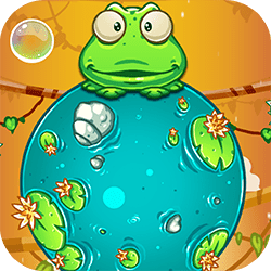 Froggee is here! Tap and jump to reach as high as possible. Collect stars and eat flies for points. Avoid dangerous animals and plants. Jump into a bubble to fly!