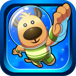 Discover a fantastic underwater world in Doggy Dive! Get into the water and dive as deep as you can. Collect air bubbles and coins and avoid dangers like poisonous jellyfish, blowfish and sharks. Prove your skills and reach a high score!