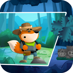 Play Fox Adventurer and help Mr. Fox in his magical adventure.. Switch between day and night to choose the right way to finish level. Create stone clones to jump higher and collect green gems.