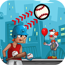 Henk was the best baseball player in the world before jokers cheated and defeated him with false means. And now, after Henk has retired, the jokers are back again to cause trouble! Help him get rid of the jokers once and for all!