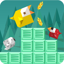 Bird's life is never easy. Avoid being smashed by crates and try to collect delicous grains while at it. Lucky that you can climb vertical surfaces, eh? Don't forget that there are plenty more birds and sceneries to unlock! Run bird! Run!