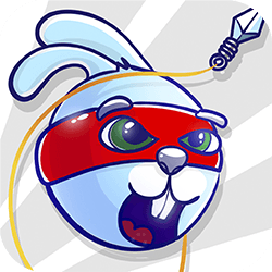 Rabbit Samurai is on a big adventure to help his Sensei. Your goal is to find all mice and rescue them from the wolf's lair. Use the rope and sticking grappling hook to fly over the land. Launch yourself from the ninja cannon, collect all carrots and find hidden crystals. Avoid dangerous spikes!
