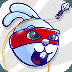 Kaninchen-Samurai