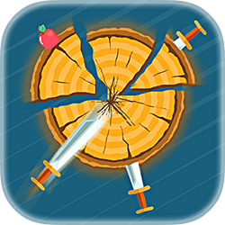 Throw the knives into the logs to break them. Slash the apples and unlock new knives. How far can you go?