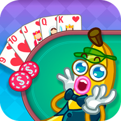 Poker. It can be hard to learn and surely very hard to master. If you put in the effort, it's a lot of fun and good for your brain. Nice that it's been given a sweet cartoon makeover. Enter Banana Poker...