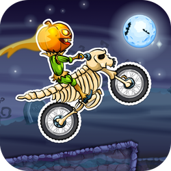 Drive your motorbike through Halloween-themed tracks filled with obstacles and stunt opportunities. Get your bike through the trials quickly to earn more points!